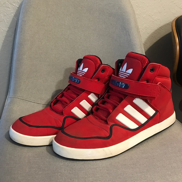 Red Adidas High Tops | Poshmark